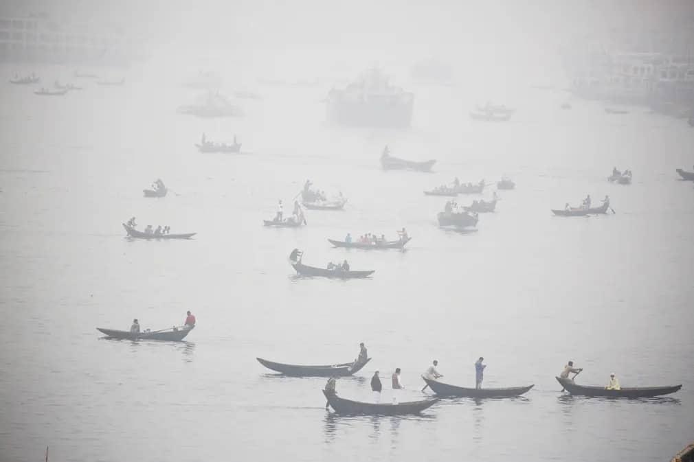 Dhaka Bangladesh Buriganga Folyo Nap Fotoja