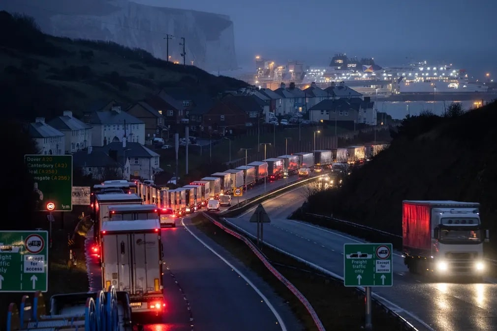 Dover Forgalmidugo Egyesult Kiralysagbrexit Nap Fotoja