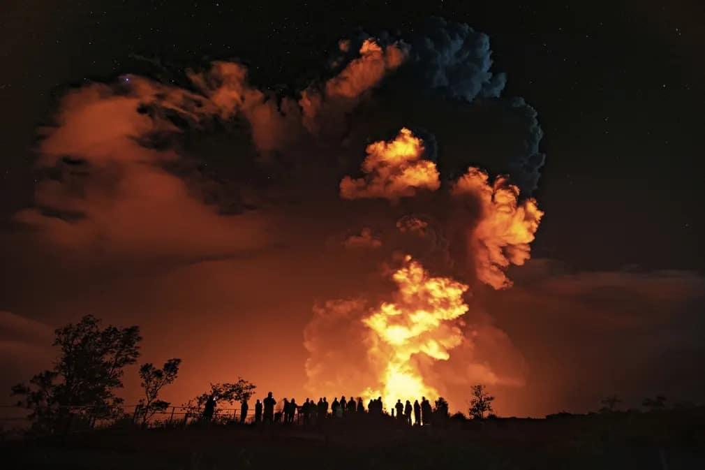 hawaii vulkan kitores kilauea nap fotoja