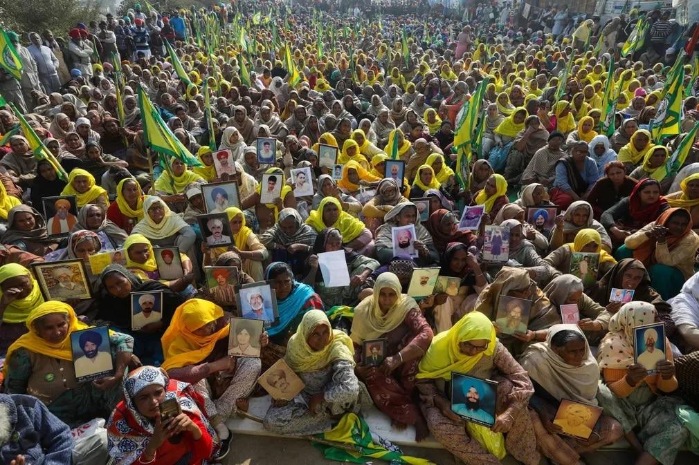India Delhi Tuntetes Nap Fotoja