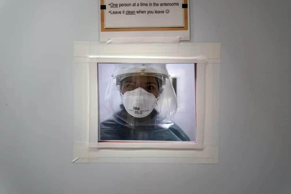 Kalifornia Apolo Koronavirus Vedofelszereles Korhaz Nap Fotoja
