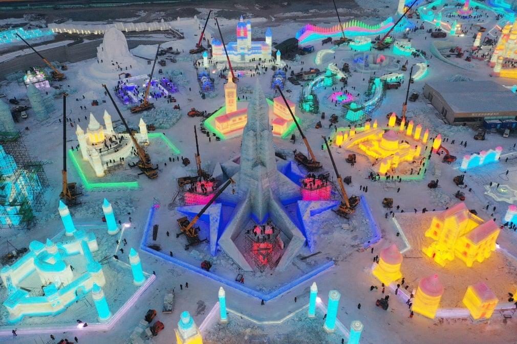 Kina Jeg Es Ho Fesztival Tel Havazas Karacsony Nap Fotoja