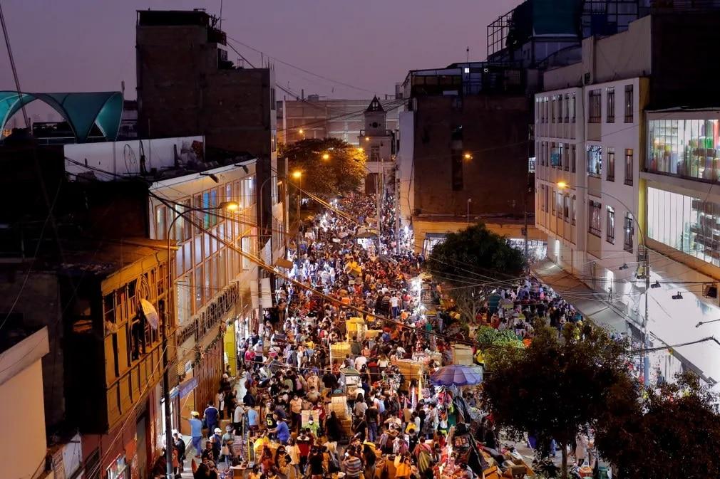 Lima Peru Karacsony Tomeg Vasarlas Nap Fotoja