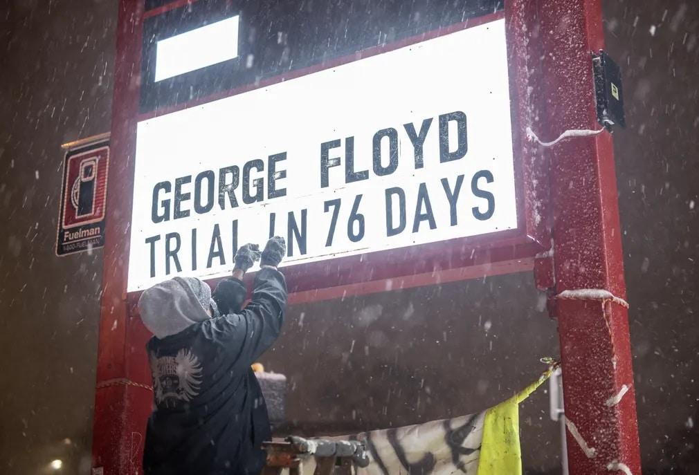 Minnesota George Floyd Black Lives Matter Felirat Nap Fotoja