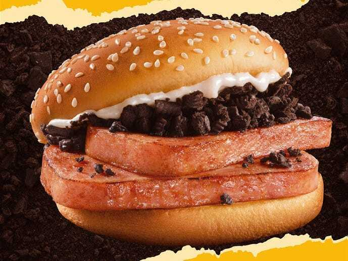 oreos hamburger mcdonalds kina