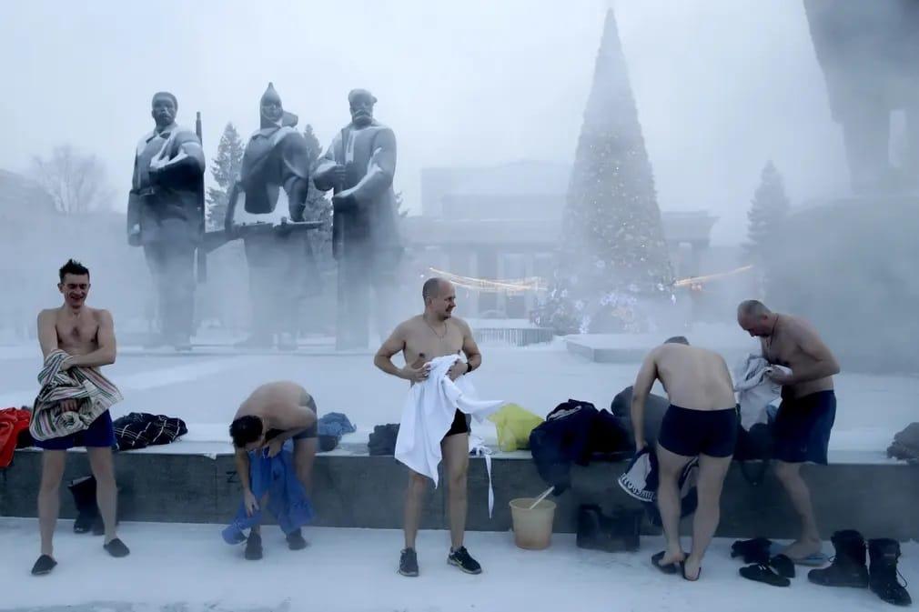 Orosz Lenin Ter Furdozes Sportolok Nap Fotoja