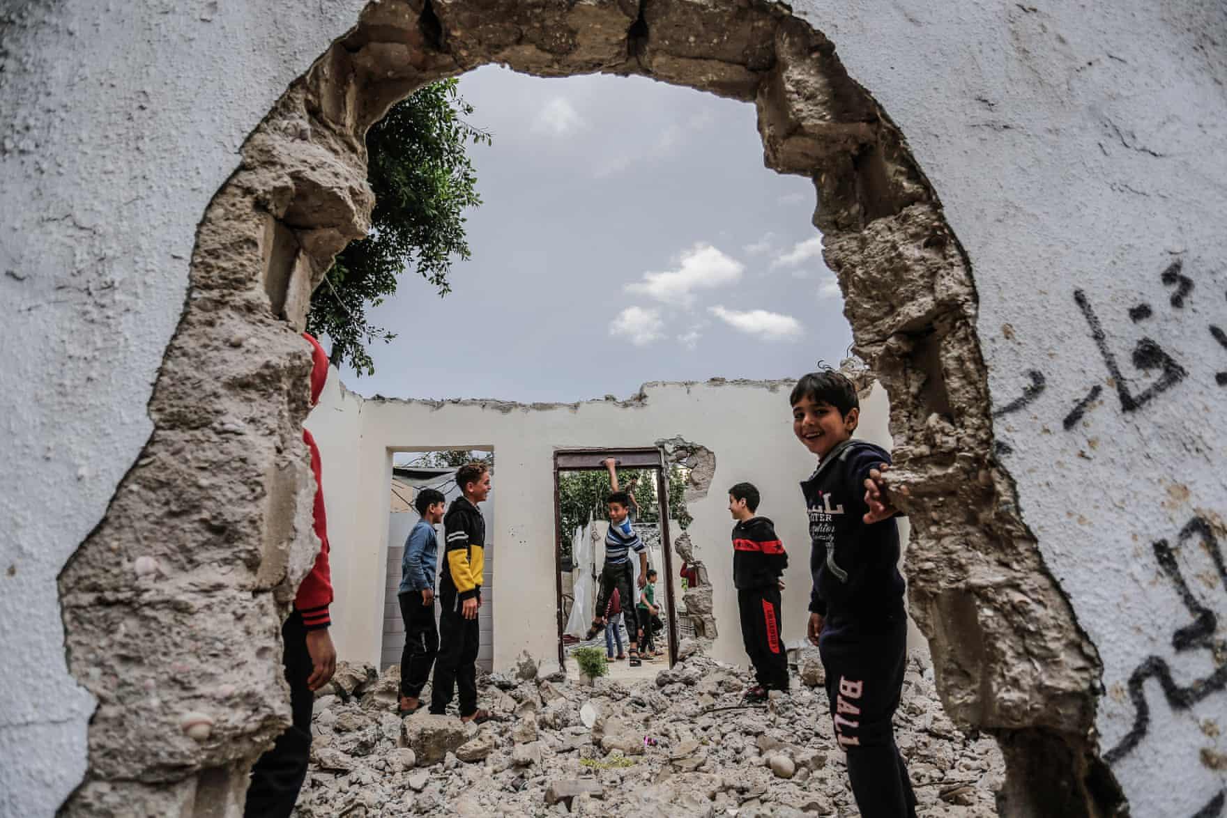 palesztin menekult gyerekek gazai ovezet