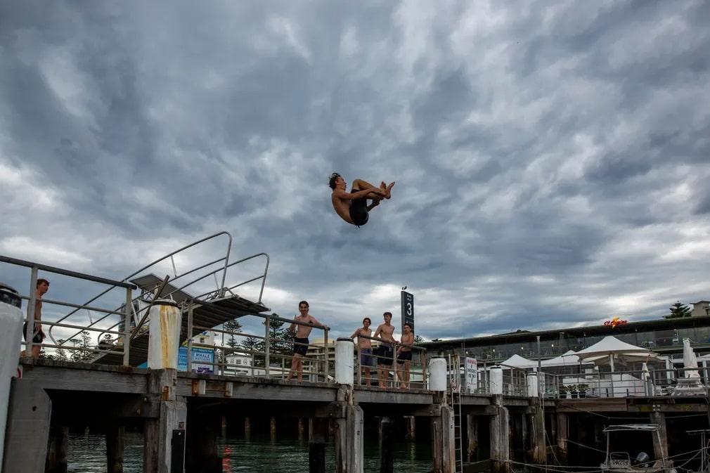 Sydney Ugras Koronavirus Strand Nap Fotoja