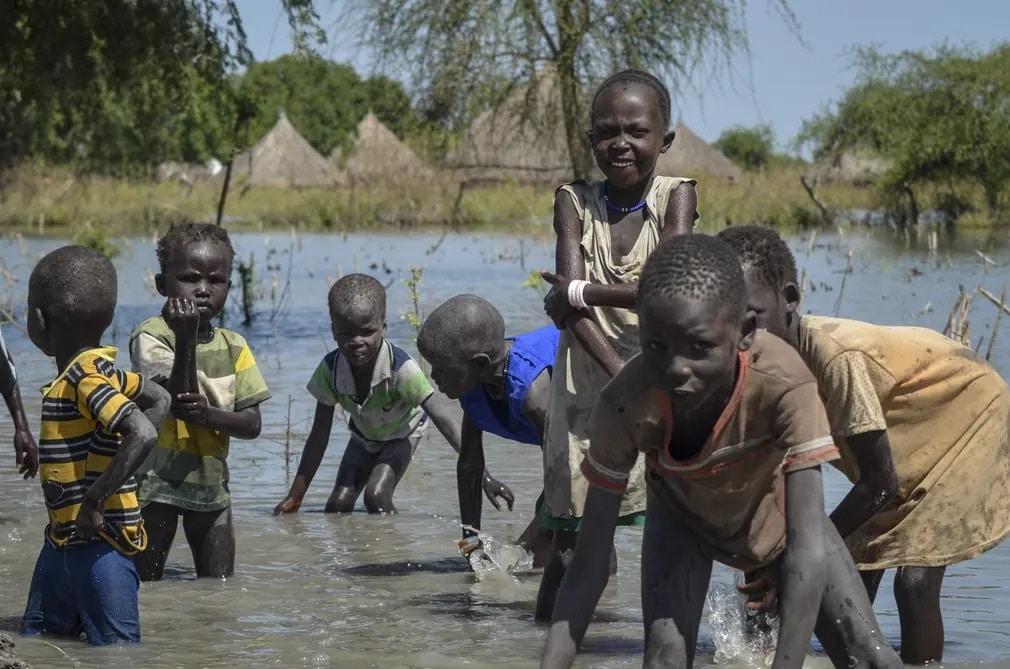 Szudan Gyerekek Afrika Nap Fotoja