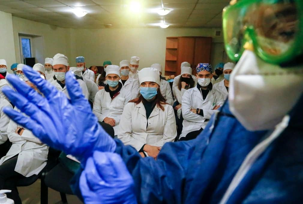 Ukrajna Koronavirus Vakcina Korhaz Nap Fotoja