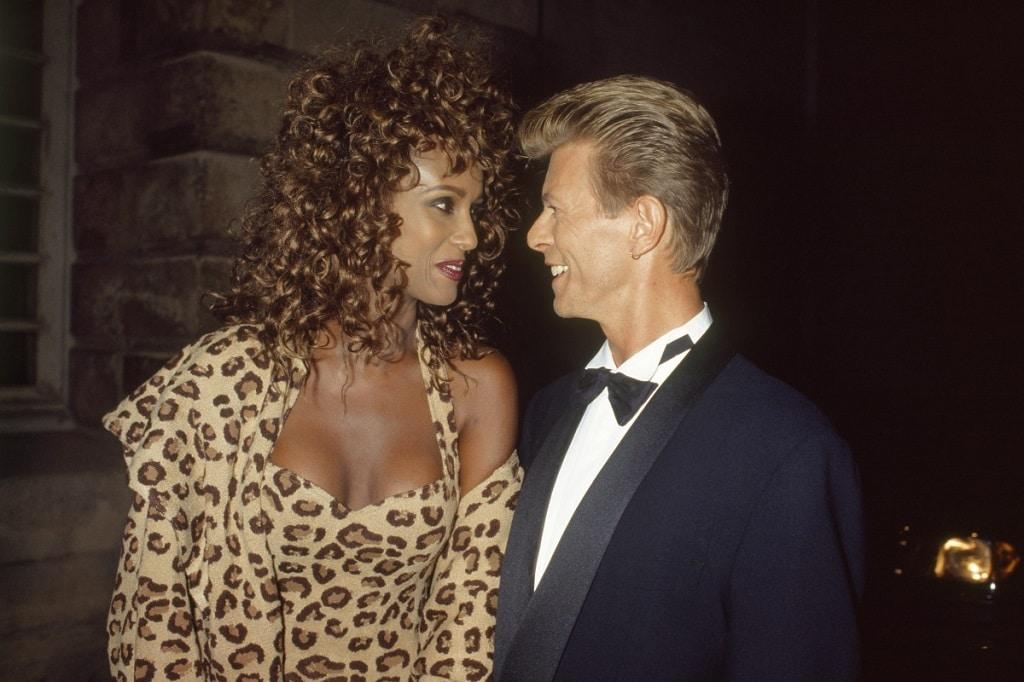 David Bowie Iman david bowie felesege