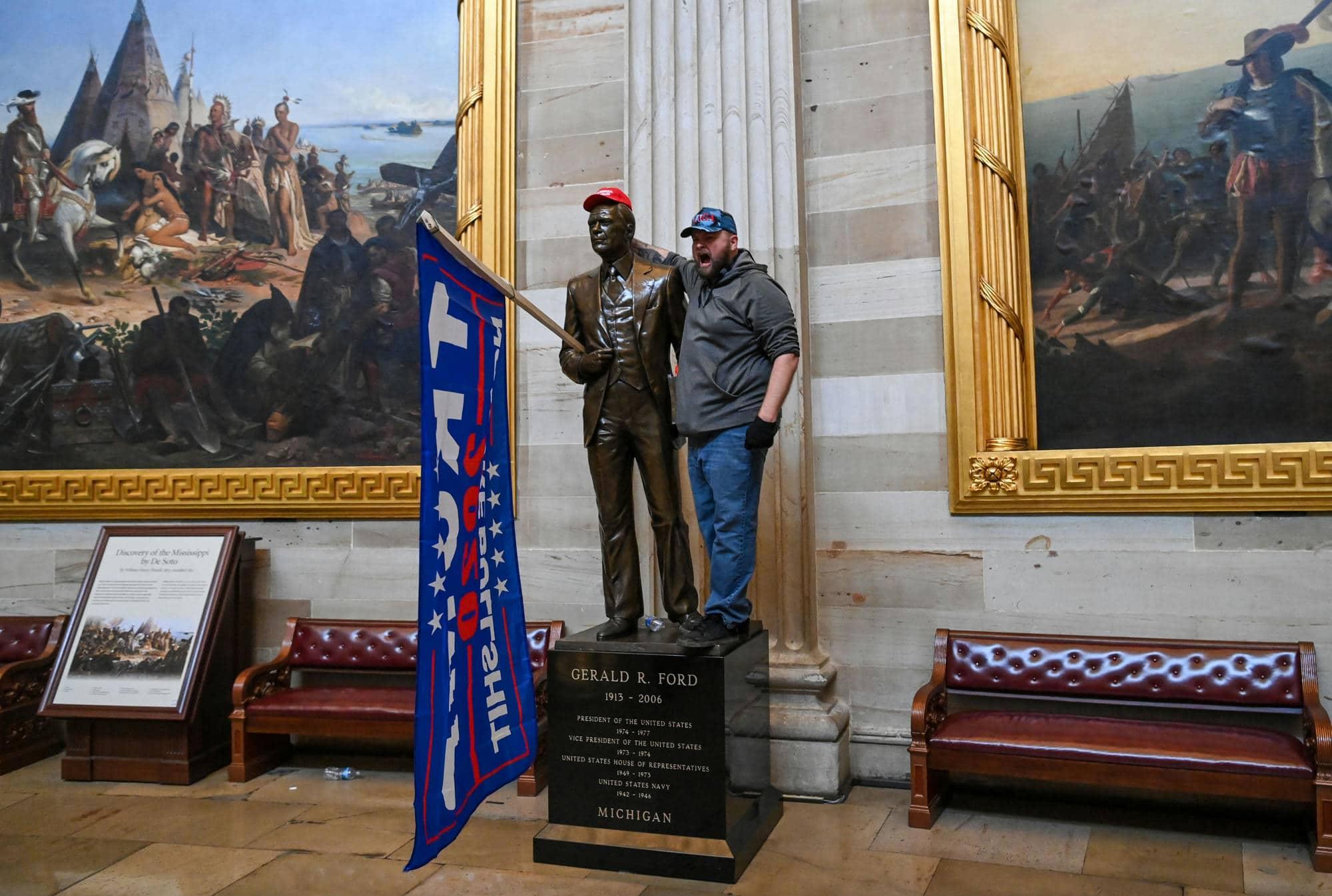 amerikai tuntetesek donald trump kongresszus capitolium