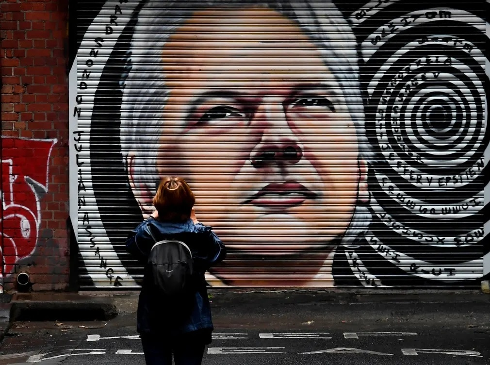 Ausztralia Julian Assange Graffiti Wikileaks Kiadatas Nap Fotoja