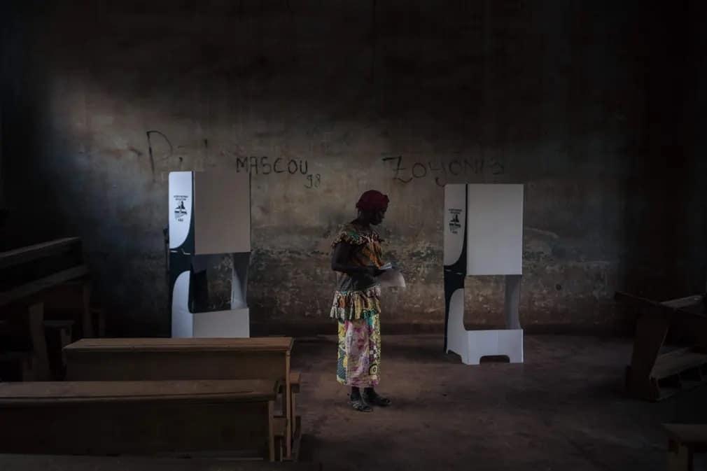 bangui szavazas valasztasok afrika nap fotoja