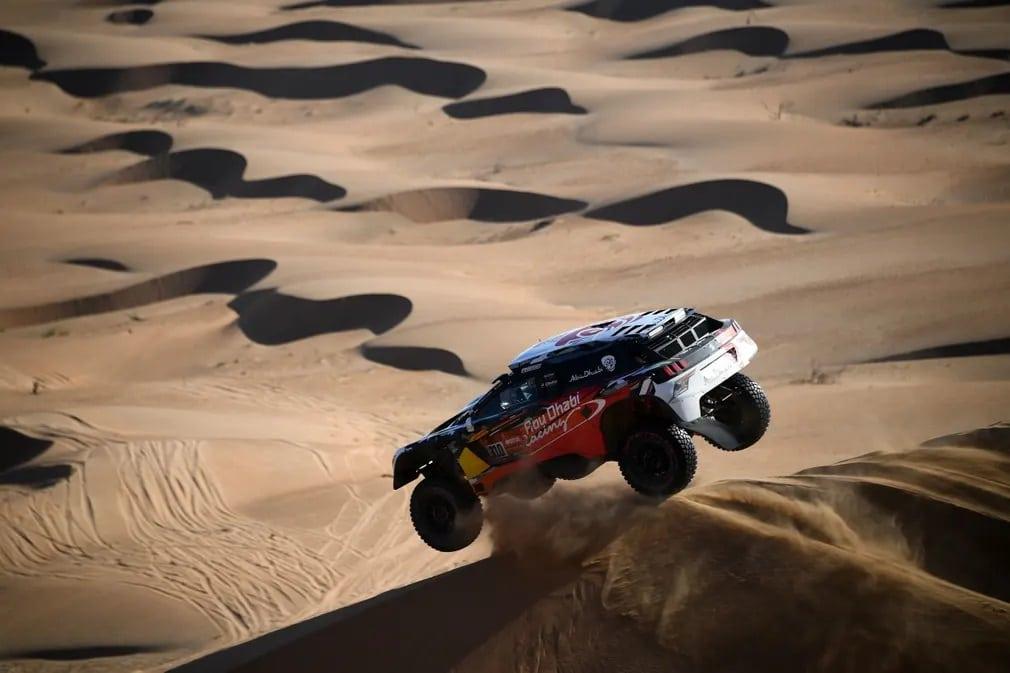 Bisha Dakar Rally Sivatag Szaud Arabia Nap Fotoja