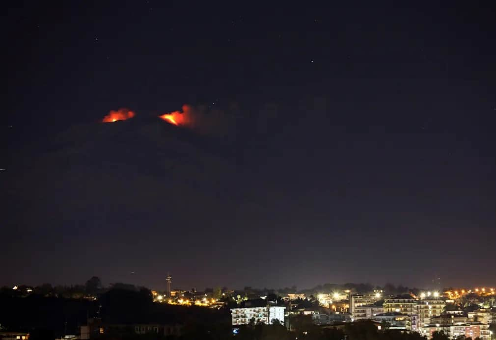 Catania Etna Vulkan Vulkankitores Olaszorszag Nap Fotoja