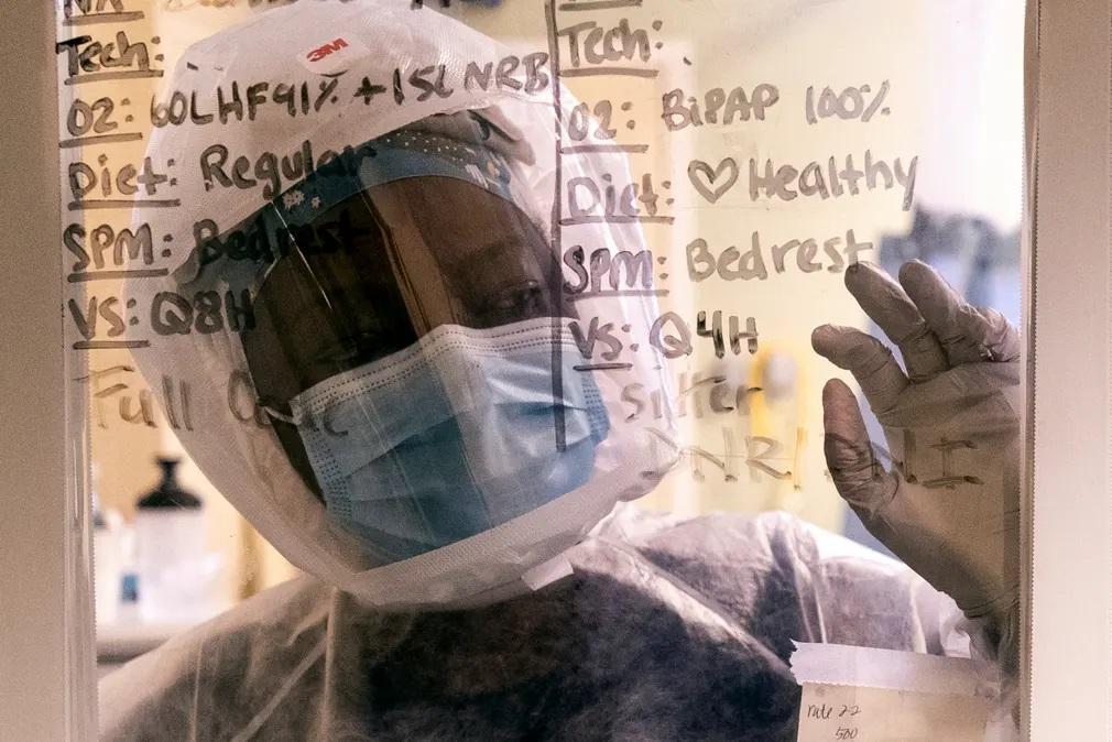 coronado koronavirus szkafander orvos korhaz nap fotoja