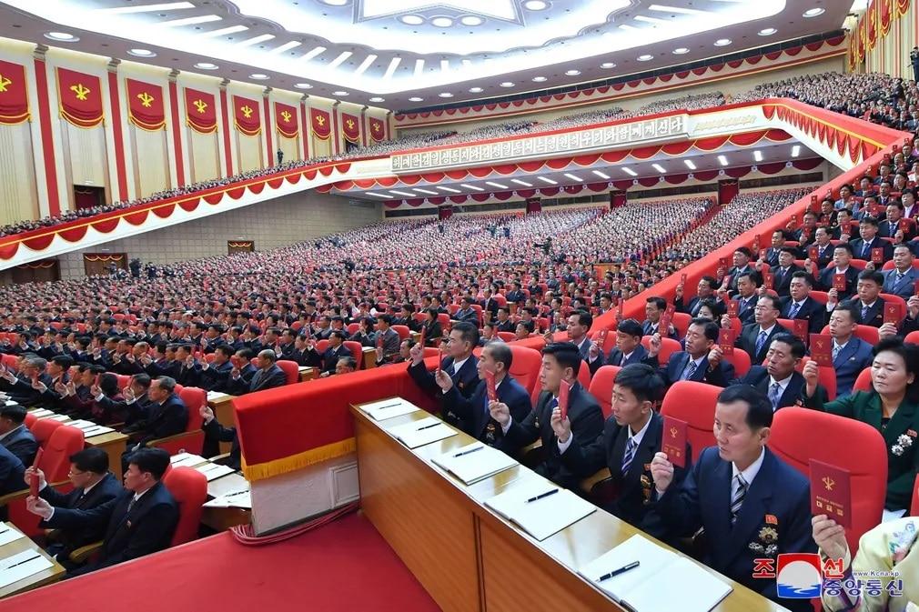 eszak korea dolgozok gyules part kongresszus nap fotoja