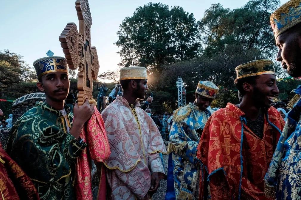 etiopia ortodoy kereszteny kereszt vizkereszt nap fotoja