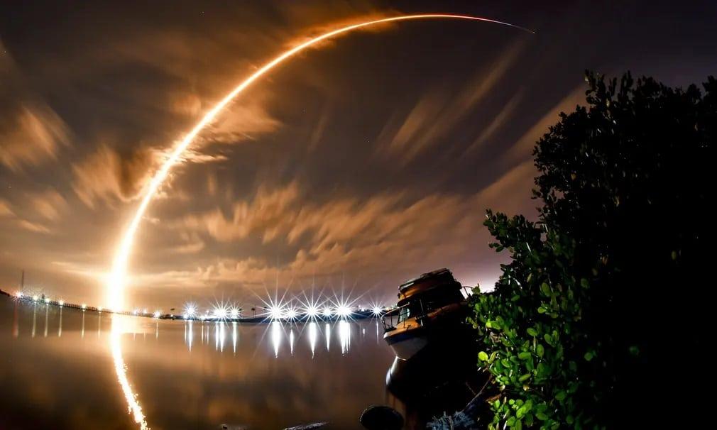 florida spacex falcon 9 space force urkutatas urutazas nap fotoja