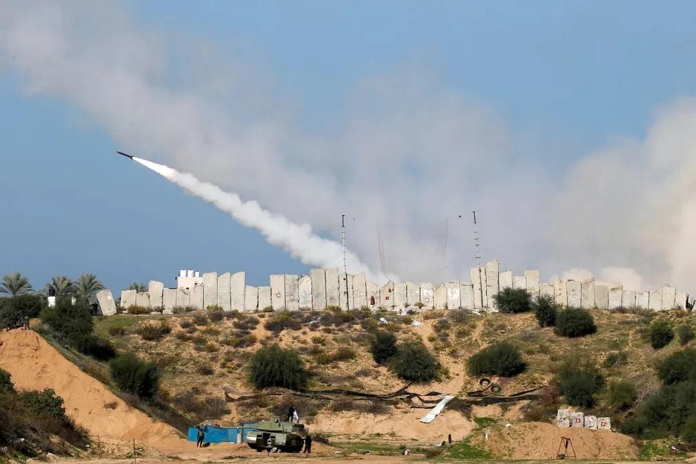 gaza raketa paleszina haboru nap fotoja
