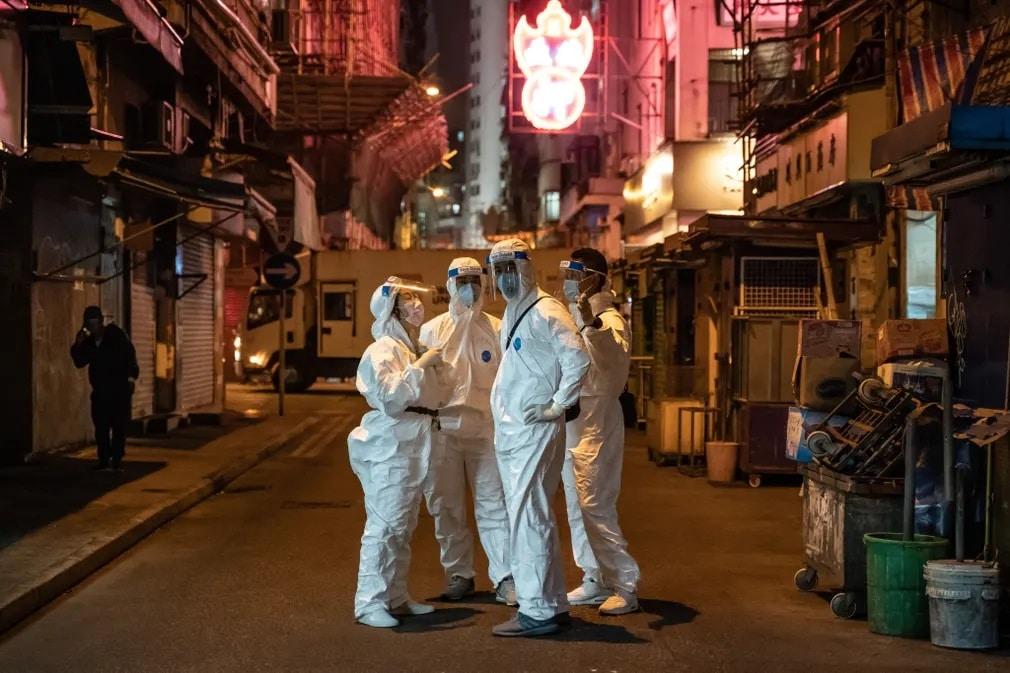Hong Kong Koronavirus Kijarasi Korlatozas Nap Fotoja