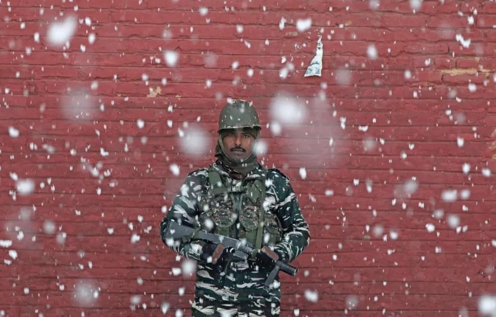 India Katona Havazas Kashmir Fegyver Nap Fotoja