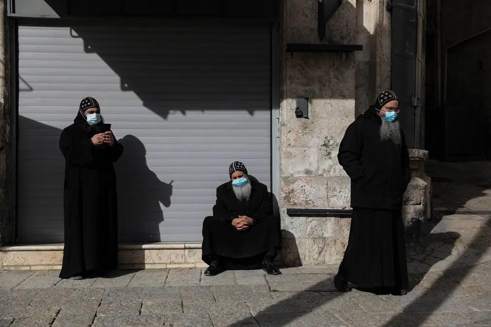 jeruzsalem jaffa gate koronavirus maszkizrael nap fotoja