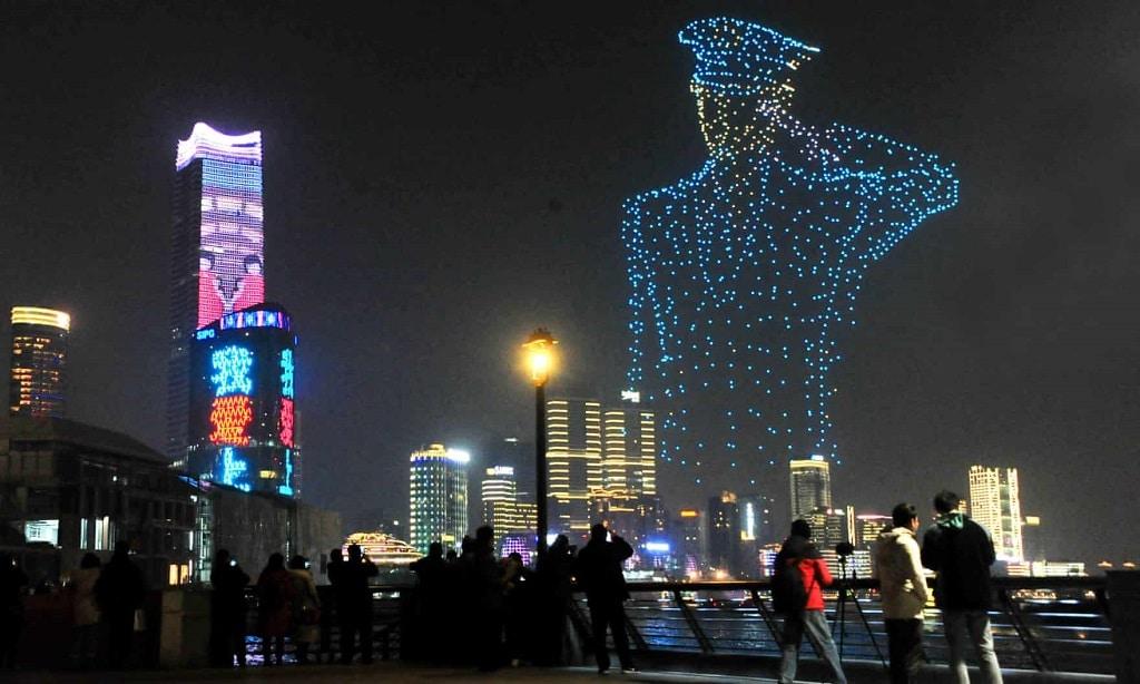 Kina Dron Rendorseg Rendorallam Sanghaj