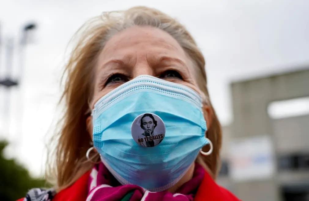 madrid tuntetes maszk koronavirus egeszsegugy egyeszsegugyi dolgozok nap fotoja