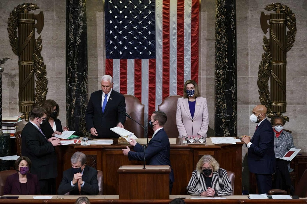 nancy pelosi mike pence amerikai kongresszus joe biden gyozelme