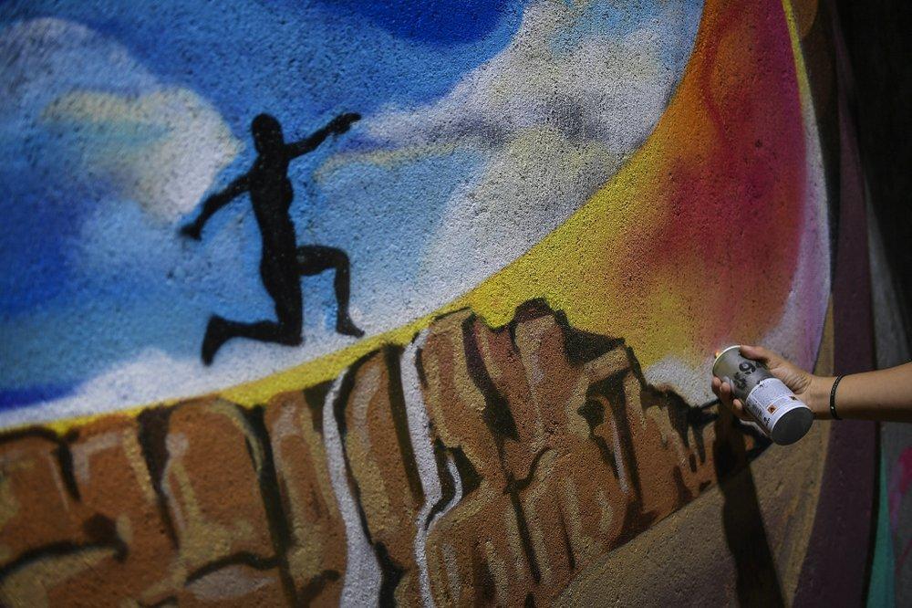 Street Art Muvesz Falfestmeny Graffiti Festmeny Nap Fotoja