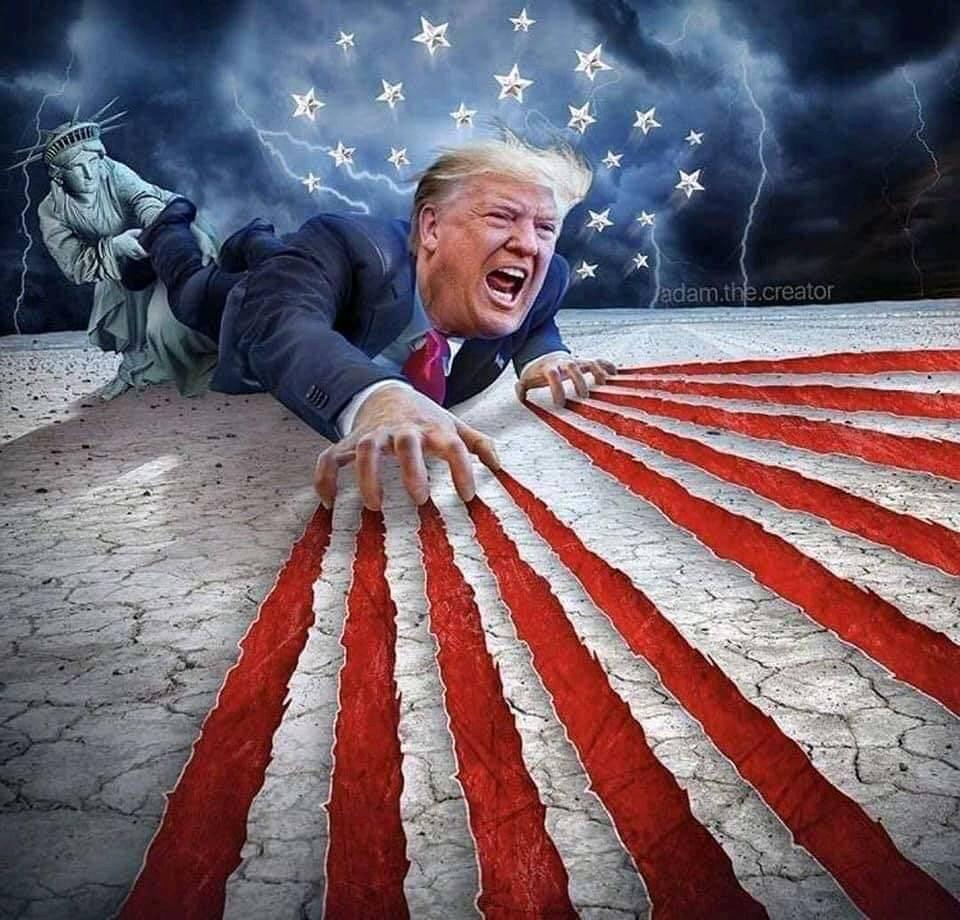 trump vereseg amerikai zaszlo