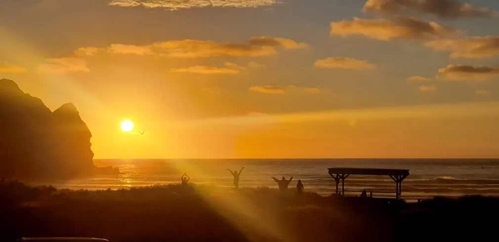 Uj Zeland Napnyugta Ujev Szilveszter Nap Fotoja