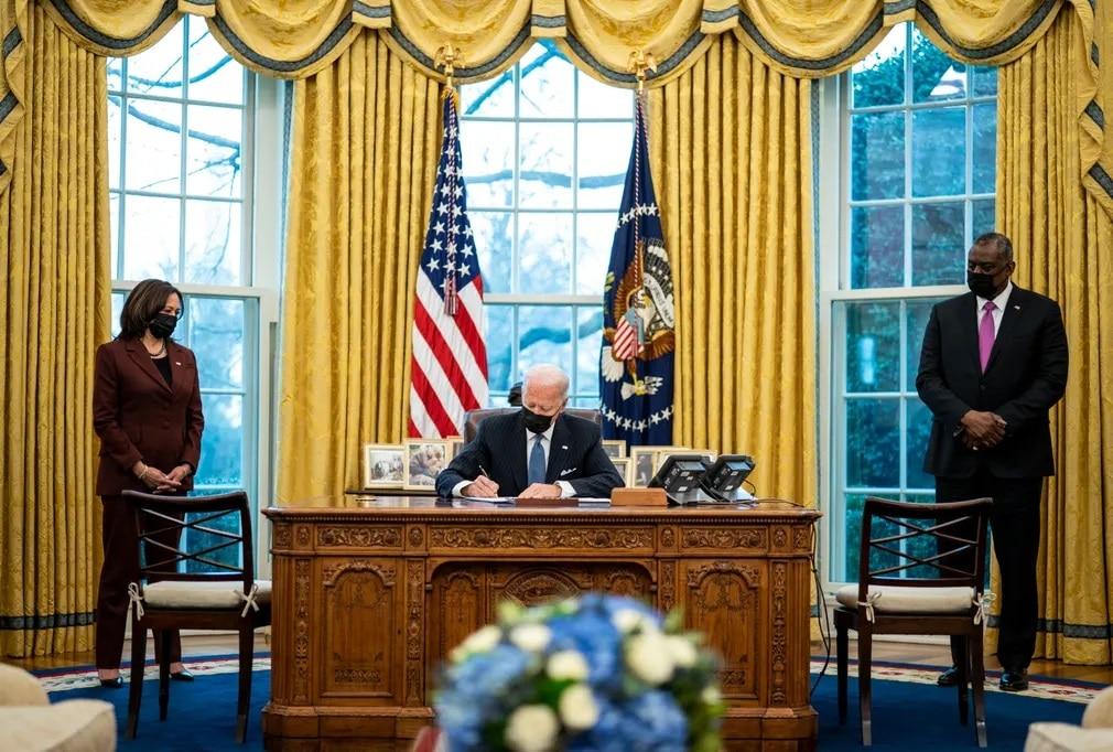 washington amerikai elnokvalasztas joe biden kamala harris nap fotoja