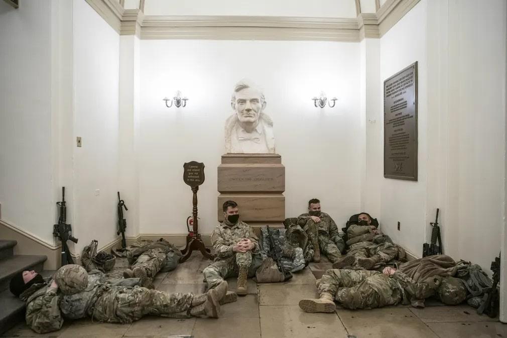 washington nemzeti garda orkodes capitolium abraham lincoln nap fotoja