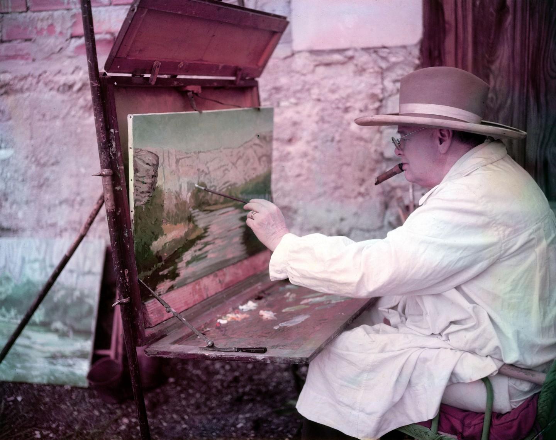 winston churchill festmenyek a korona sorozat 1