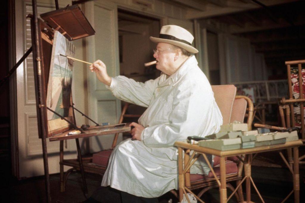 winston churchill festmenyek a korona sorozat