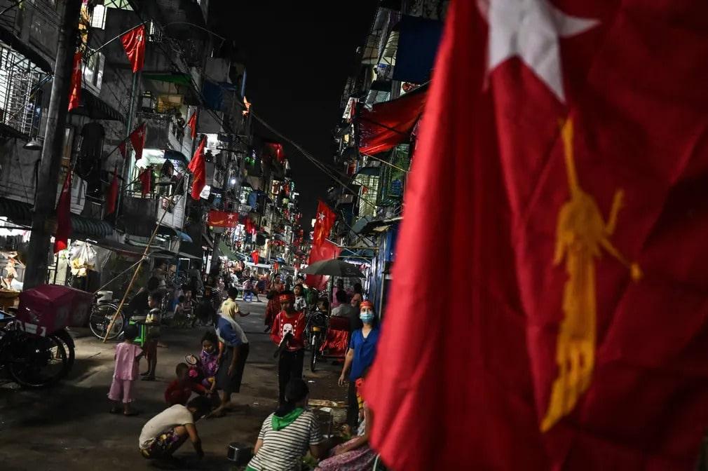 mianmar tuntetes puccs katonasag jelkep utcai lakossag nap fotoja
