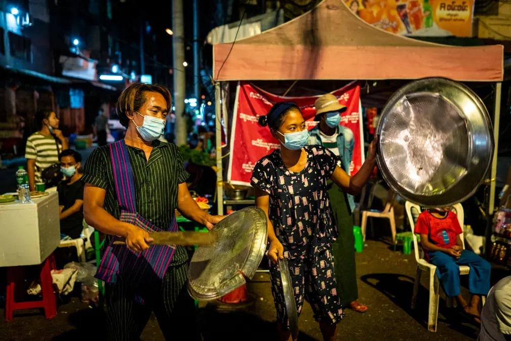 mianmar tuntetes puccs katonasag jelkep zaj tanyer fem dob nap fotoja