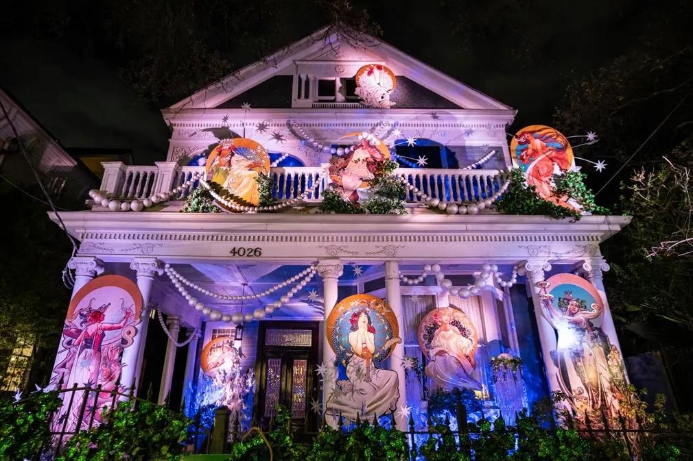 New Orleans Muzsak Mardi Gras Dekoracio Unnep Tradicio Nap Fotoja