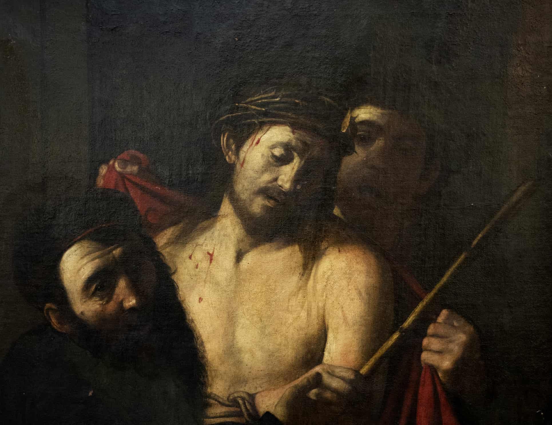 caravaggio krisztus toveskoszoruval festmeny madrid