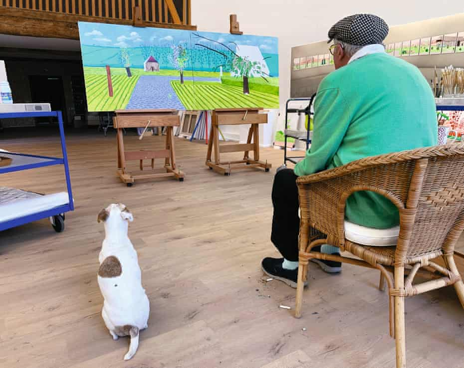 david hockney kiallitas normandiai kepek