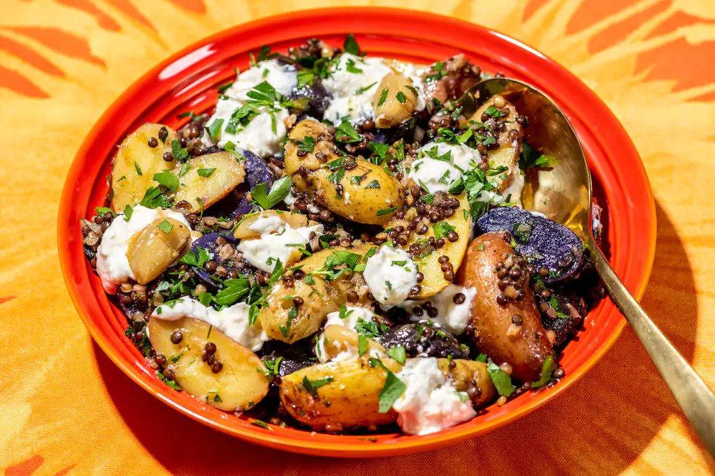 egyiptomi krumplisalata recept