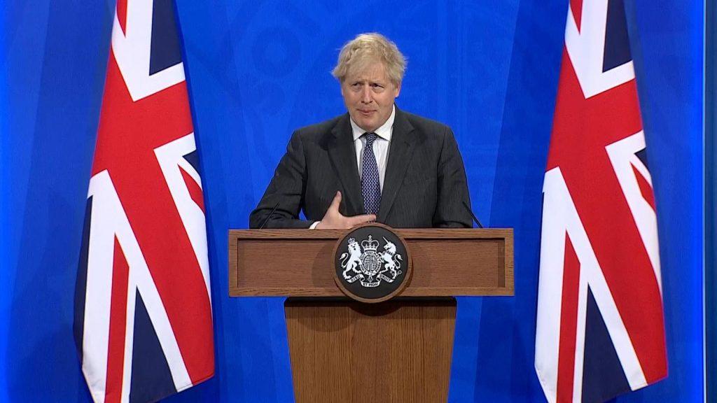 Boris Johnson Oltasi Kampany Sajtotajekoztato Korlatozas Feloldasa Delta Varians