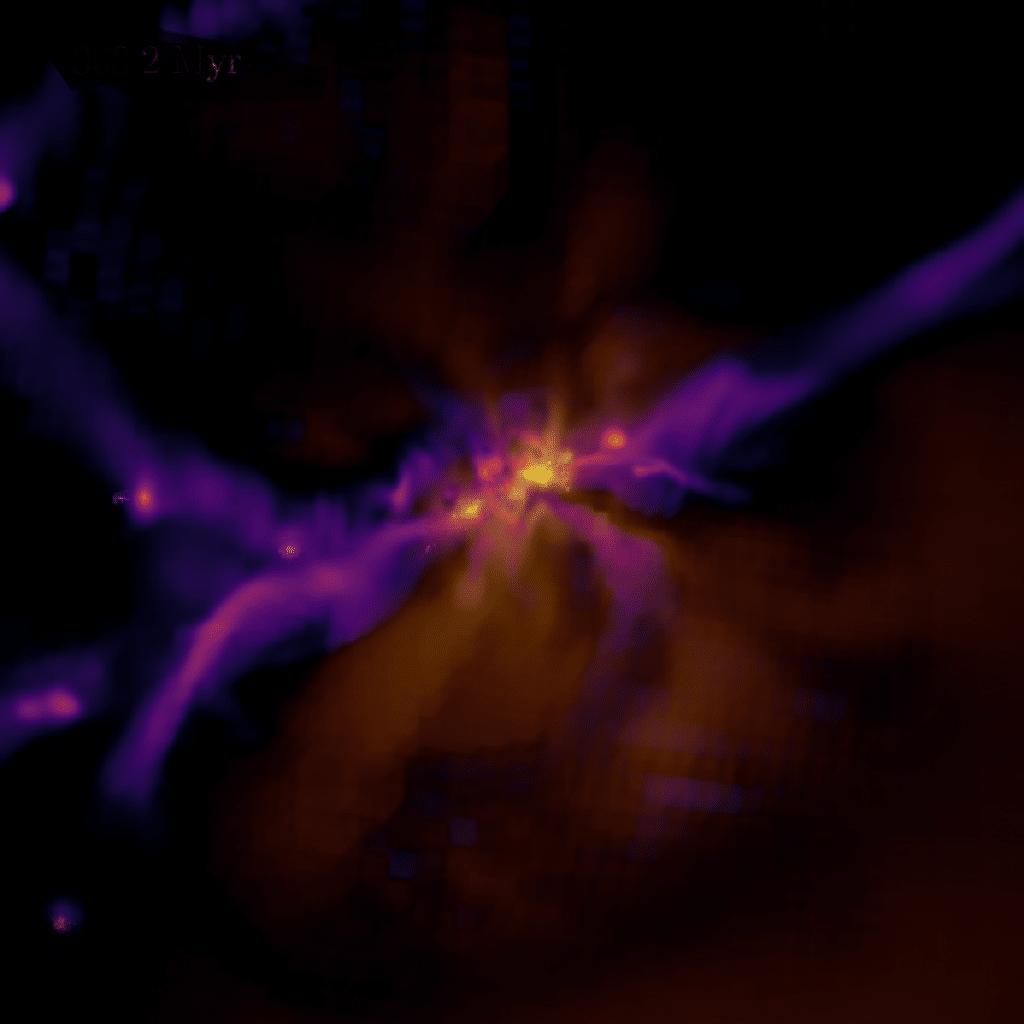 Kozmikus Hajnal Osrobbanas Galaxis Csillag Szuletes