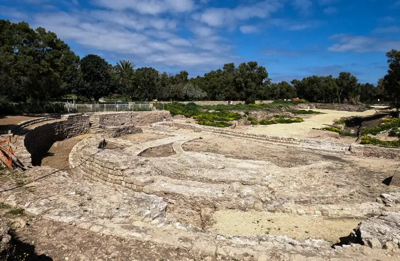 izrael bazilika askelon feltaras