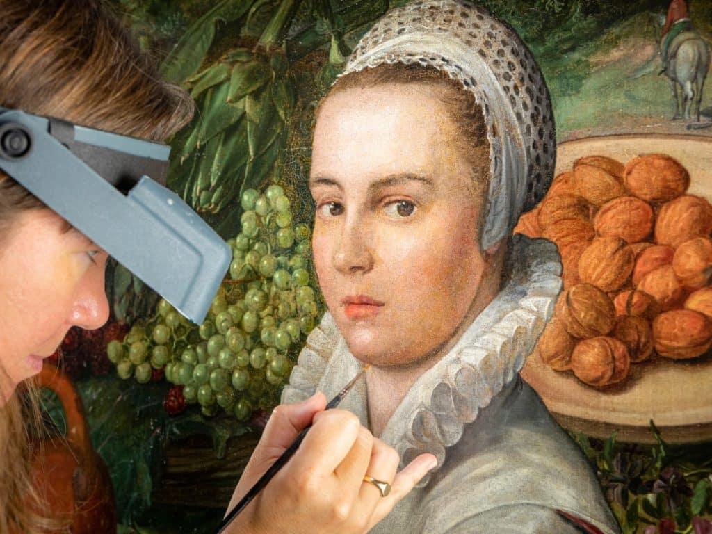 Joachim Beuckelaer Manipulalt Festmeny Restauralas English Heritage