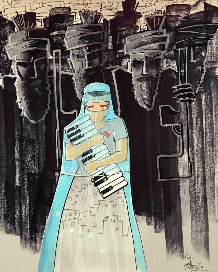 Shamsia Hassani Afgan Street Art 4