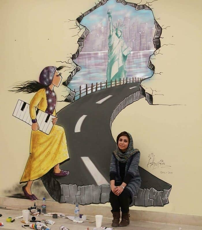 Shamsia Hassani Afgan Street Art 6